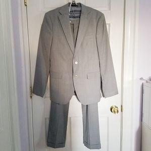 Zara Summer Wool Gray Suit